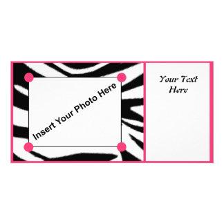Zebra Print Photo Card