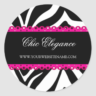 Zebra Print & Pink Lace Stickers