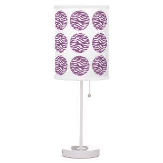 Zebra Print Polka Dots Table Lamp