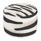 Zebra print pouf footstool beanbag