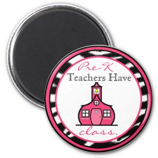 Zebra Print Pre-K Teacher Magnet