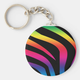 zebra-print-rainbow1 keychain