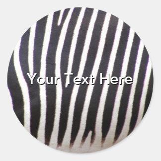 Zebra Print Round Sticker