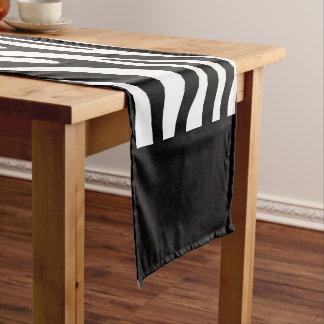 Zebra Print Short Table Runner