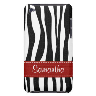 Zebra Print Skin iPod Touch Case Red Ribbon