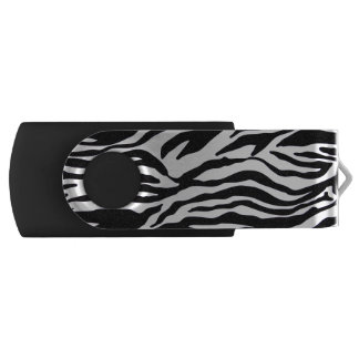 Zebra Print Swivel USB 2.0 Flash Drive