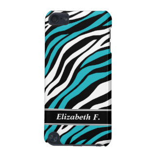 Zebra Print Turquoise Mix iPod Touch 5G Case