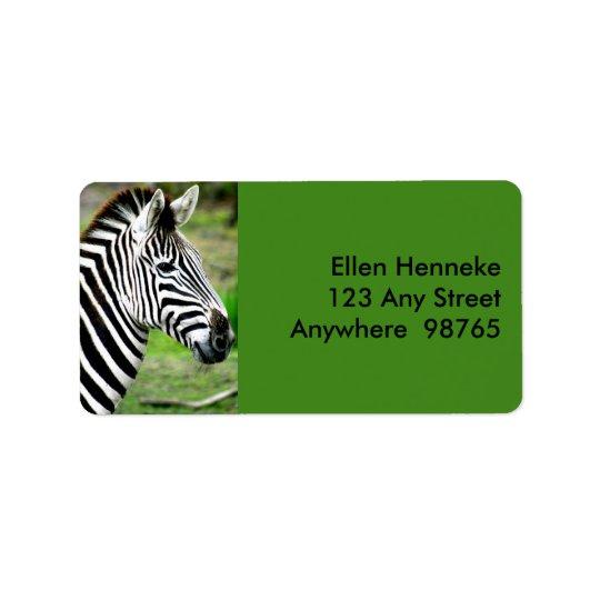 Zebra Profile Label