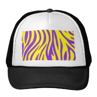 Zebra Purple and Yellow Abstract Animal Prints Art Trucker Hat