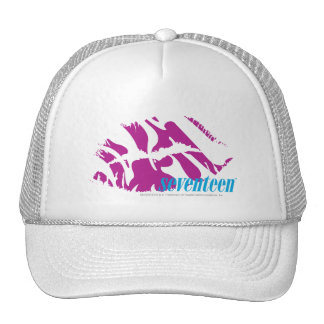 Zebra Purple Mesh Hat