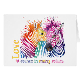 Zebra Rainbow Gifts Card