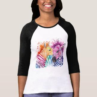 Zebra Rainbow Jersey T-Shirt