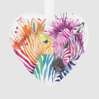 Zebra Rainbow Ornament