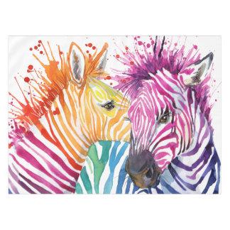 Zebra Rainbow Tablecloth