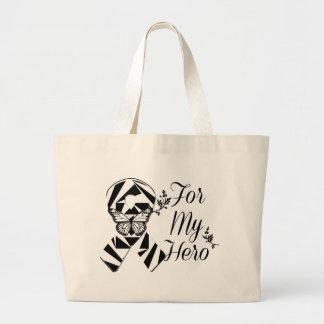 Zebra Ribbon For My Hero Jumbo Tote Bag