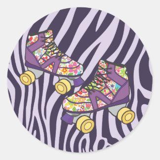 Zebra Roller Skate Roller Skating Party Sticker