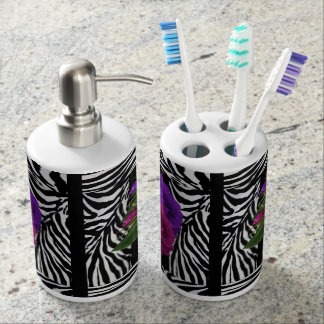 Zebra  Rose BathRoom Bathroom Set