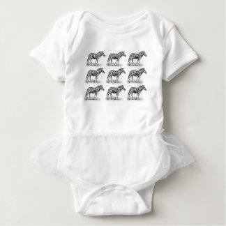 Zebra rows art baby bodysuit
