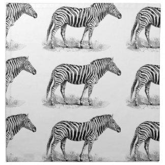 Zebra rows art napkin
