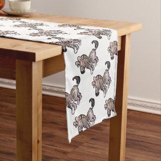 Zebra Safari Animals Cartoon Character Short Table Runner