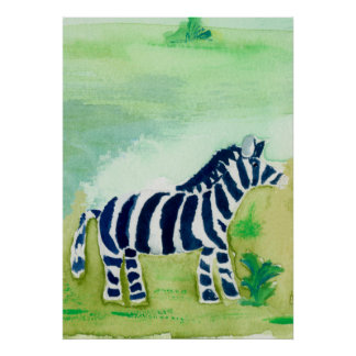 Zebra Safari Friend Poster