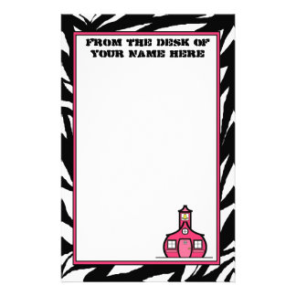 Zebra Schoolhouse Stationery