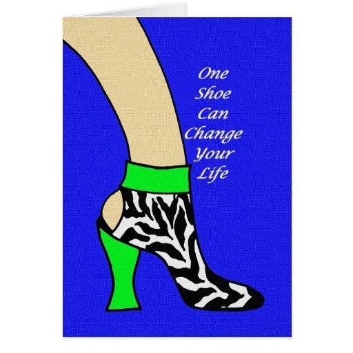Zebra Shoe Art Card