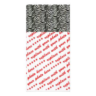 Zebra Skin Camouflage Texture Personalized Photo Card