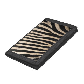 Zebra Skin Collection Trifold Wallet Purse