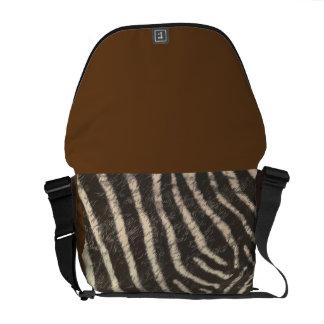 Zebra Skin Medium Messenger Bag