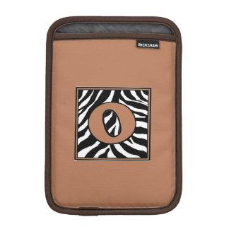Zebra Skin O Monogrammed iPad Mini Sleeve