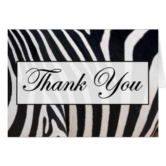 Zebra Skin thank You Note Cards
