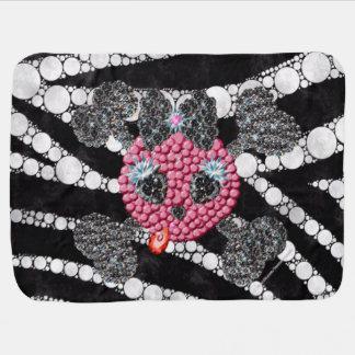 Zebra Skull Kitty  Baby Blankets