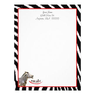 Zebra Smile Custom Letterhead