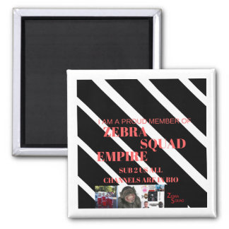 Zebra Squad Empire Fridge Magnet