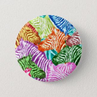 Zebra Standard, 2¼ Inch Round Button