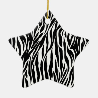 zebra star ornament