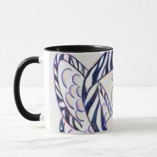 Zebra Stripe Awareness Ribbon Angel Coffee Mugs