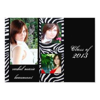 Zebra Stripe Graduation Announcement