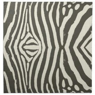 Zebra Stripe Pattern Napkin