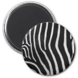 Zebra Stripe Pattern Round Magnet Refrigerator Magnets