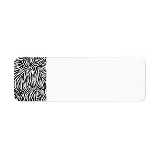Zebra Stripe Swirls Pattern backgrounds fashion Return Address Label