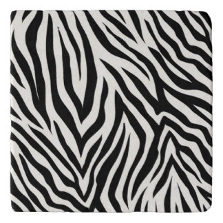 Zebra Striped Modern Coaster