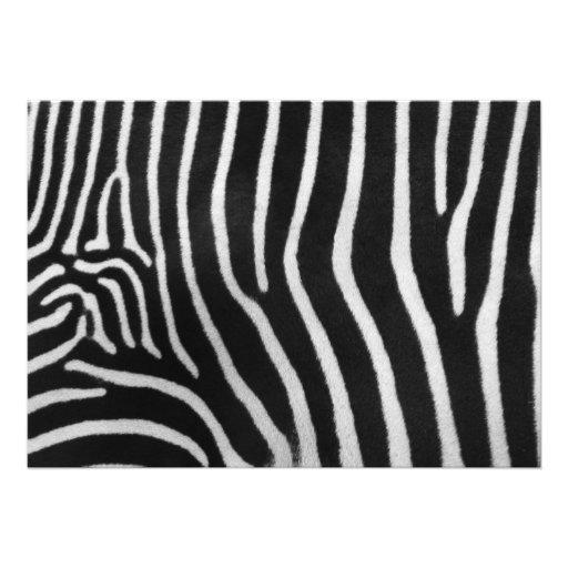 Zebra Striped Pattern Invitation