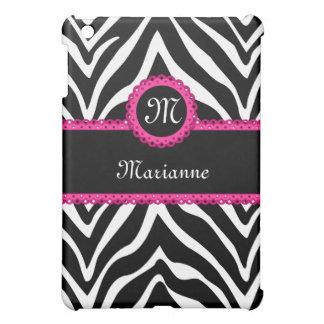 Zebra Stripes and Pink Lace Personalized iPad Mini Case