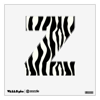 Zebra stripes - Black and White Wall Decal