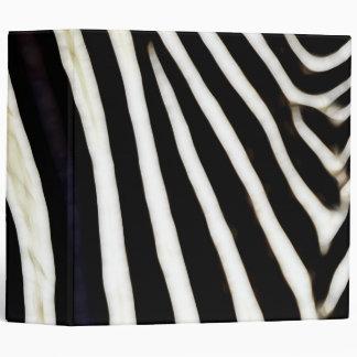 Zebra Stripes- Black & White Vinyl Binder