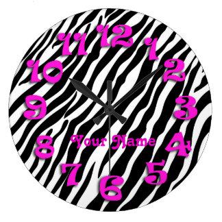 Zebra Stripes Custom Text Clock