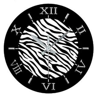 Zebra Stripes Dial on a Large Clock