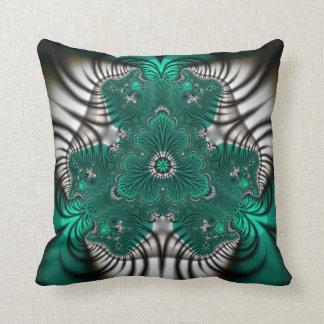 zebra stripes fractal pillow